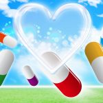薬とハートマーク